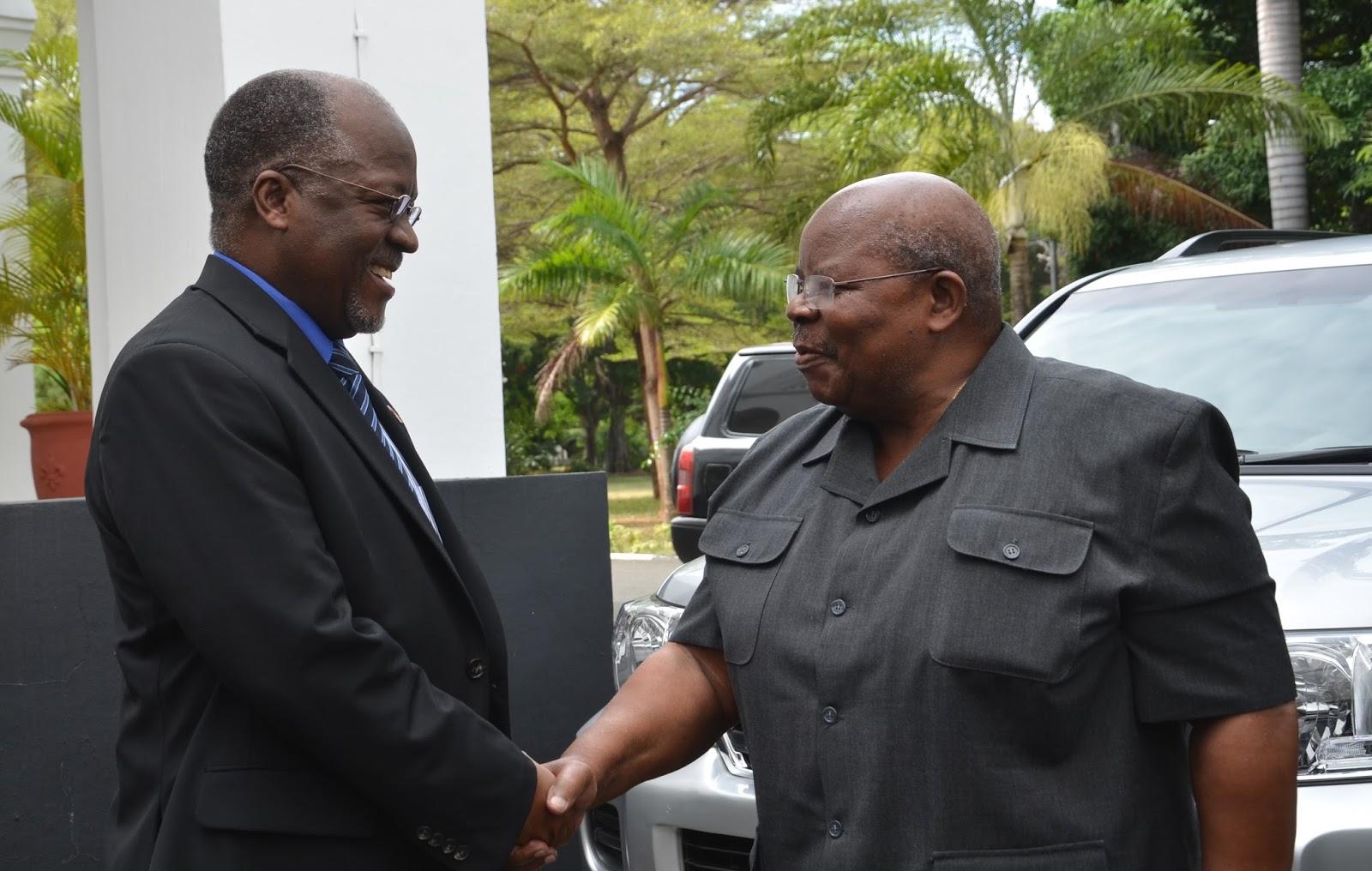Rais Magufuli Akutana na Rais Mstaafu Mkapa, Jaji Warioba ...
