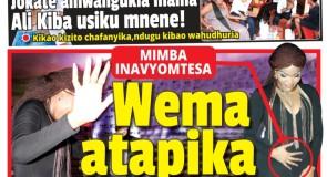 Magazeti Ya Leo Jumatatu Ya Februari 8, 2016