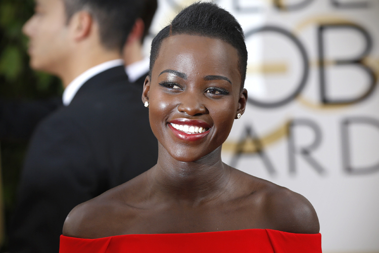 "Actress Lupita Nyong'o, of the film ""12 Years A Slave,"" arrives at the 71st annual Golden Globe Awards in Beverly Hills, California January 12, 2014. REUTERS/Mario Anzuoni (UNITED STATES - Tags: ENTERTAINMENT) (GOLDENGLOBES-ARRIVALS) - RTX17B4R"
