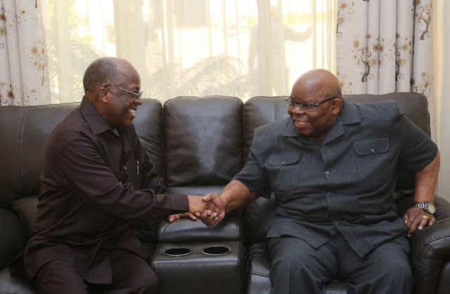 Image result for photos of mkapa and magufuli
